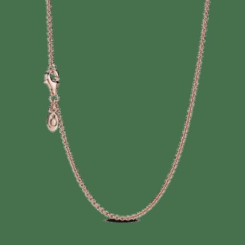 Collar Cadena Clásica Recubrimiento en Oro Rosa de 14k