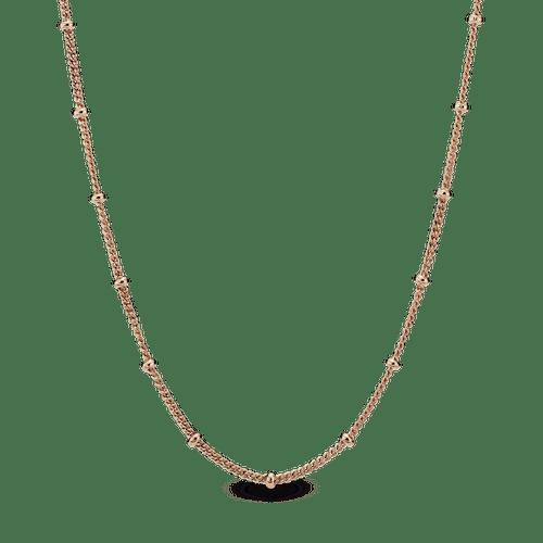 Collar Cadena de cuentas Recubrimiento en Oro Rosa de 14k