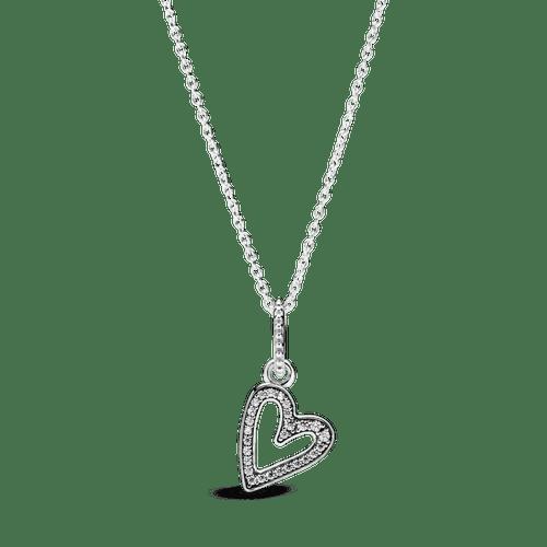 Collar Corazón Diseño libre resplandeciente