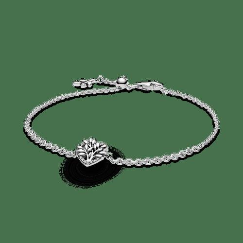Brazalete de cadena Corazón con árbol de familia