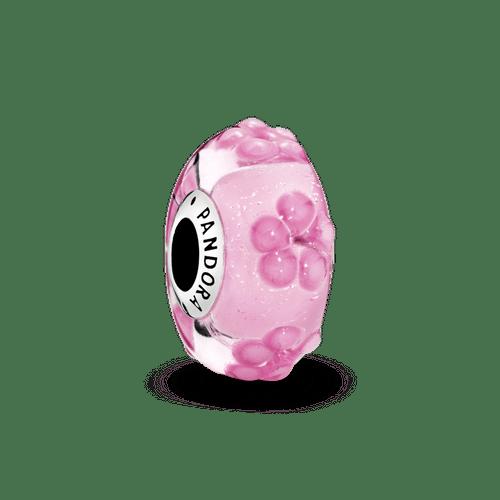 Charm de cristal Murano rosado