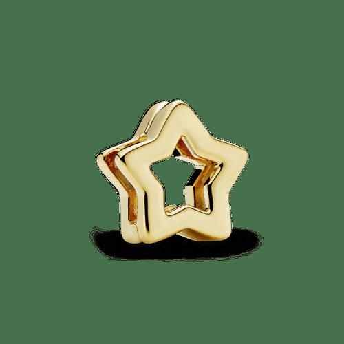 Charm Clip Sujetador Estrella Recubrimiento en Oro de 14k Reflexions